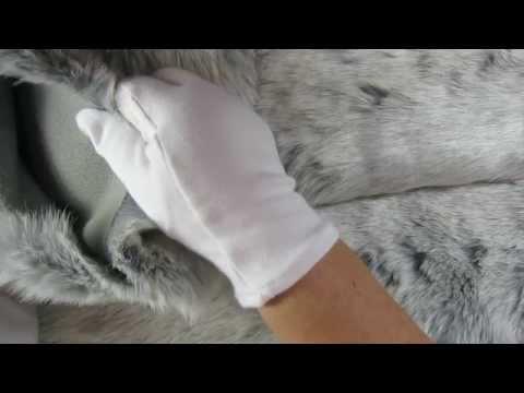 ASMR - Stroking Soft Fur Fabric - Softly Spoken