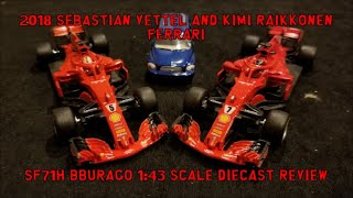 2018 Sebastian Vettel and Kimi Räikkönen Ferrari SF71H Bburago 1:43 scale Diecast Review