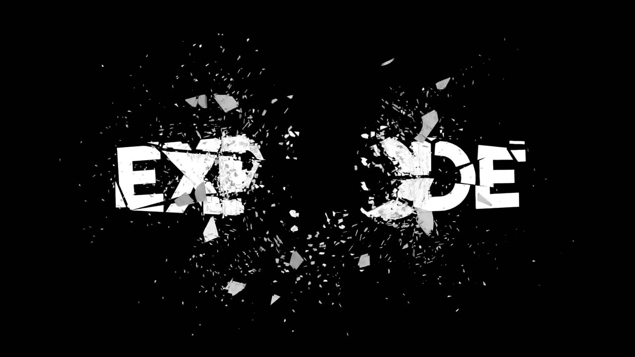 logo explode after effects template youtube