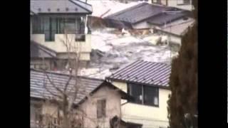 東日本大震災 岩手県宮古市 津波映像 Great East Japan Earthquake   Tsunami image of Miyako-shi, Iwate