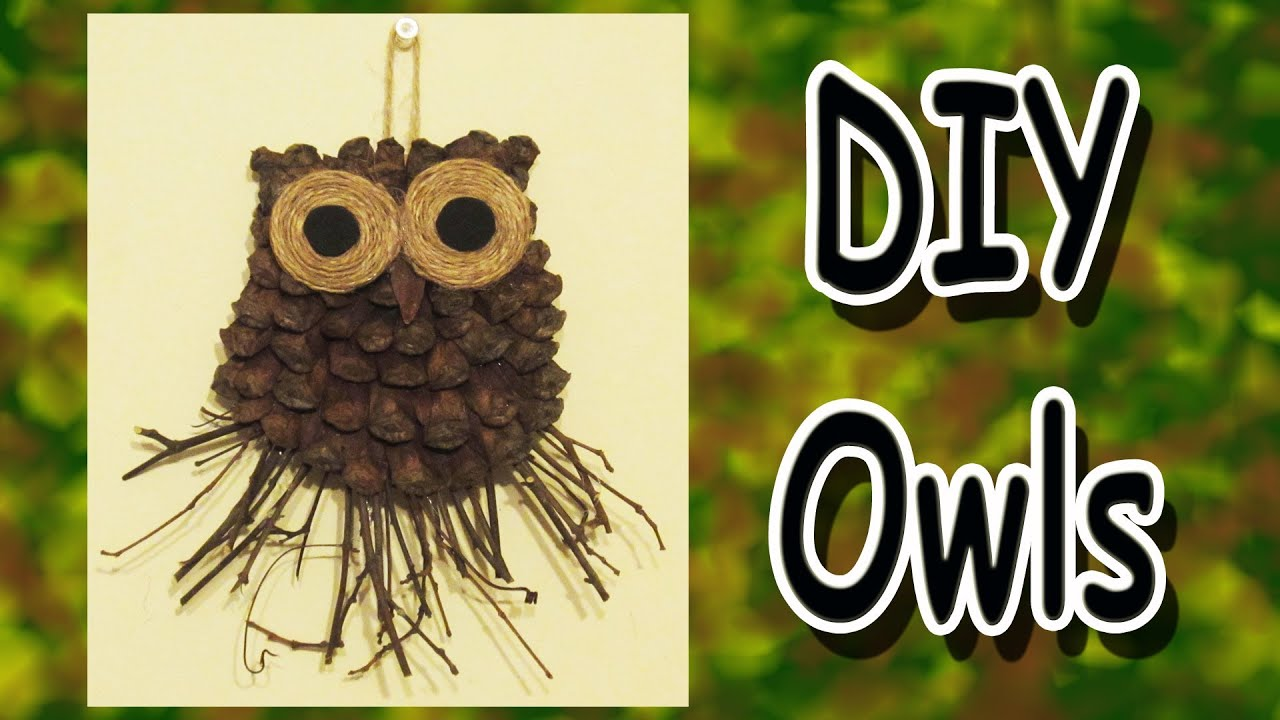 DIY Owl Decoration A Gift Idea YouTube