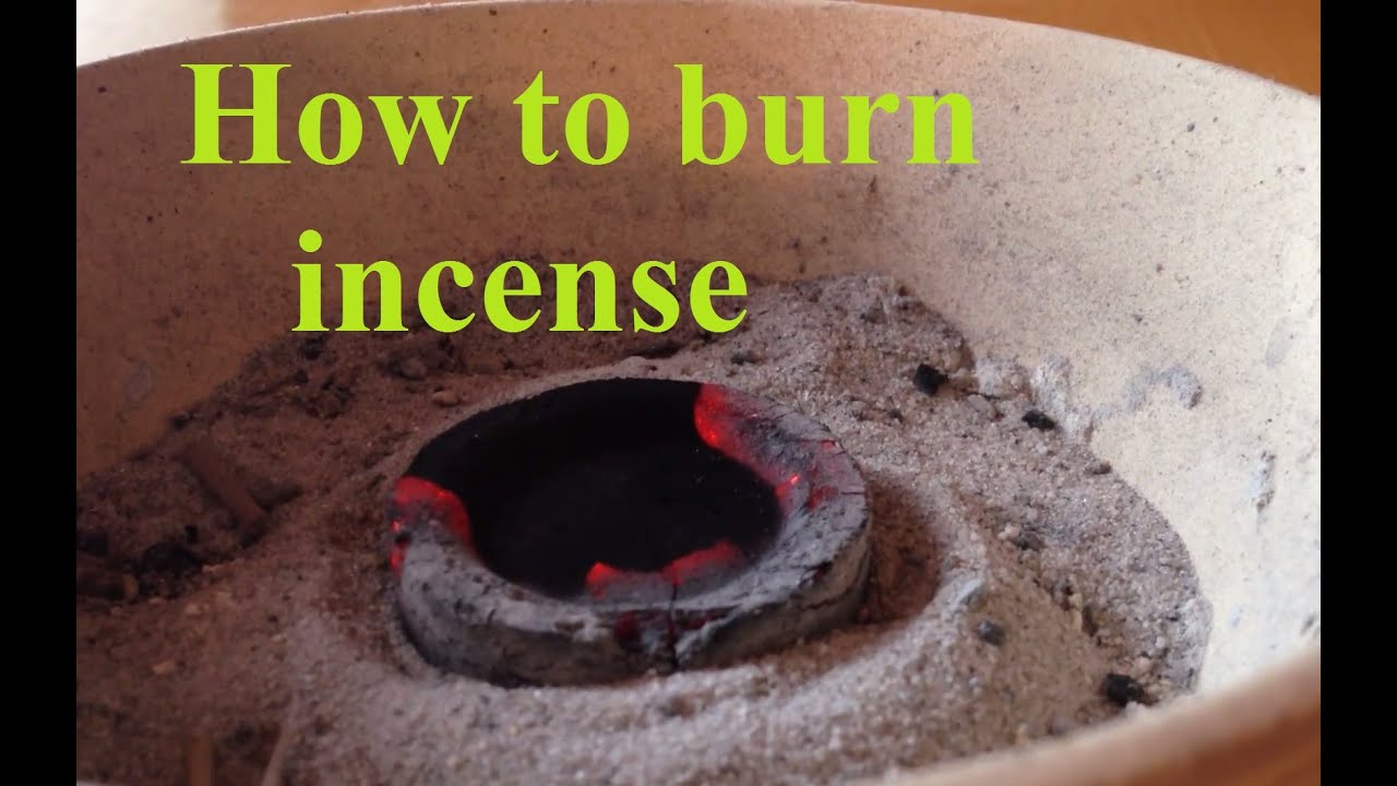 How to Light Charcoal  How to Burn Resin Incense