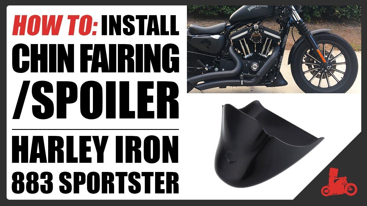 Amazicha Matt Black Front Spoiler Chin Fairing for Harley Davidson Sportster Iron 883 2004-2018