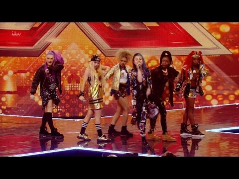 The X Factor UK 2015 S12E11 6 Chair Challenge - Groups - ALIEN Full Clip