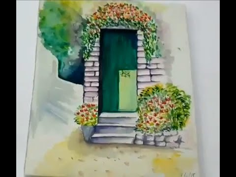 Easy handmade water colour landscape for beginner