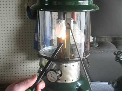 How To Correctly Light A Coleman 220f Gas Lantern