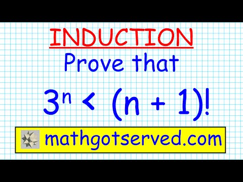 #16 proof prove induction 3^n less than n+1! inequality hsc maths