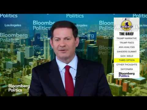 Bill Weld on Bloomberg: I