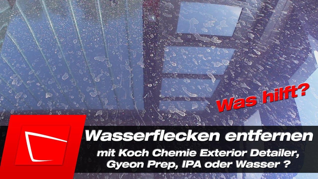 wasserflecken entfernen auto