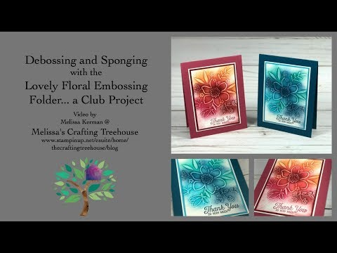 Lovely Floral Embossing Folder - A Club Project