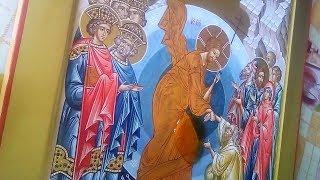 Олифение иконы Воскресения Христова .