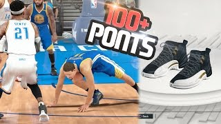 NBA 2k17 MyCAREER - SCORING 100+ POINTS on HALL of FAME vs GSW! Signature Jordan 12 Wings! Ep. 131