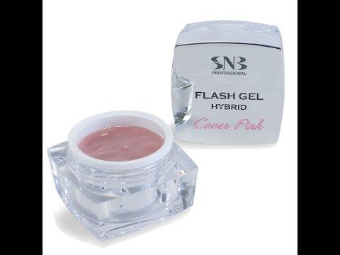 FLASH UV Gel Hybrid Cover Pink application by SNB Professional
