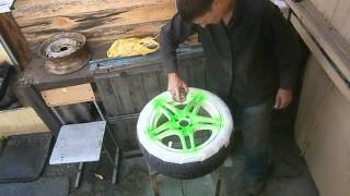 Покраска дисков в ДВА ЦВЕТА , ФЛУРЕСЦЕНТНАЯ КРАСКА
