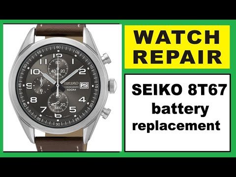 Seiko 8t67 Battery Replacement Youtube