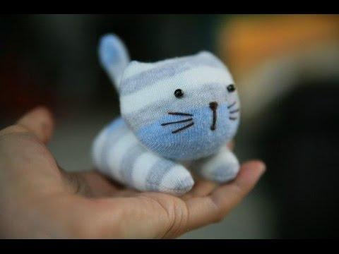 Котенок из носков. Kitten of socks