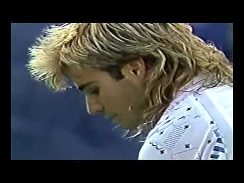 Andre Agassi vs Jimmy Connors QF US Open 1989 Part 2