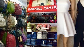 Обзор магазинов СУМОК и дешевой одежды и вкусный донер на улице Гюллюк (Güllük). Часть 3.