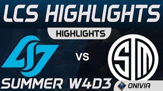 CLG vs TSM Highlights LCS Summer 2020 W4D3 Counter Logic Gaming vs Team SoloMid by Onivia