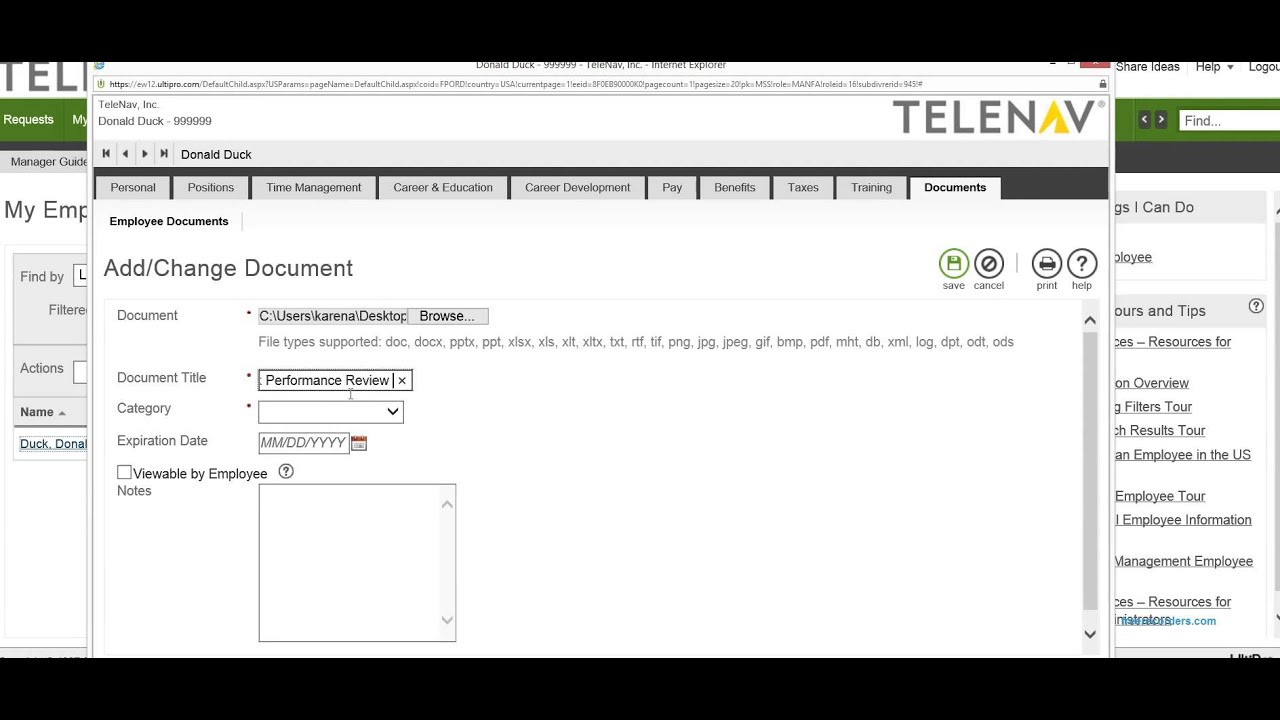 Performance Review Upload to UltiPro - YouTube