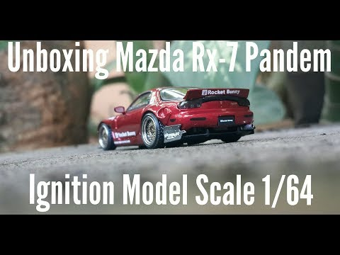 #21. Unboxing Diecast Ignition Model Mazda Rx7 scale 1/64