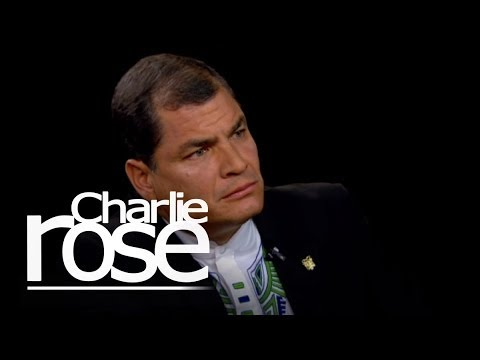 President Rafael Correa on Snowden and Assange | Charlie Rose