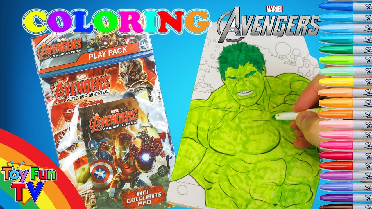 Avengers The Hulk Coloring Color Book Activity Pack Opening Colour ...
