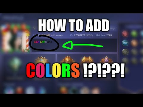 HOW TO COLOR FONT ON MOBILE LEGENDS PROFILE DESCRIPTION!! EASY TRICK