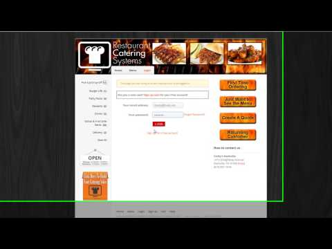 Catering Software Online Ordering Interface