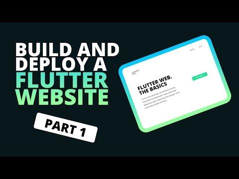 Building a Website In Flutter - Flutter Web Beginners Tutorial