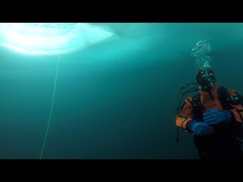 Ice Diving Video, Tignes France