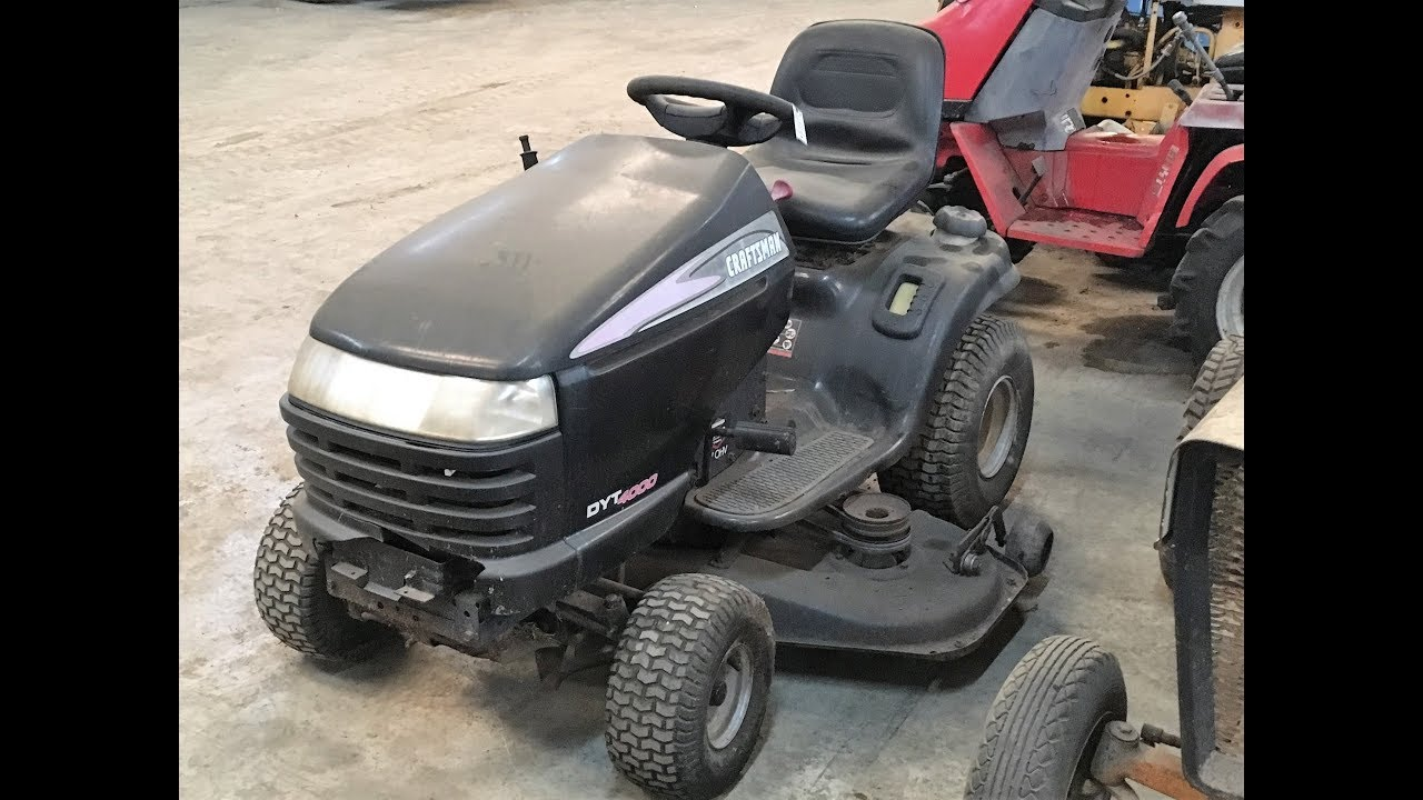 2005 craftsman dyt 4000 lawn mower tractor 3 14 18 you [ 1280 x 720 Pixel ]