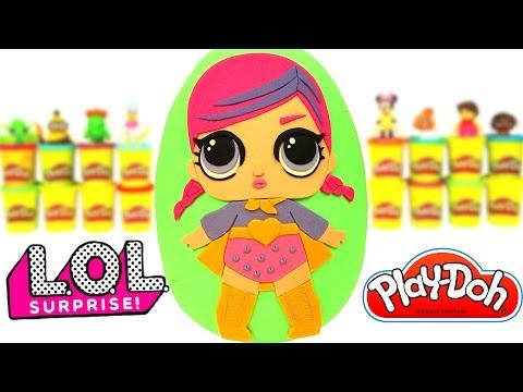 Huevo Sorpresa Gigante de Muñeca de L.O.L Surprise en Español de Plastilina Play Doh