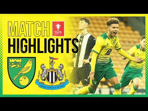 FA YOUTH CUP HIGHLIGHTS | Norwich City 3-2 Newcastle United