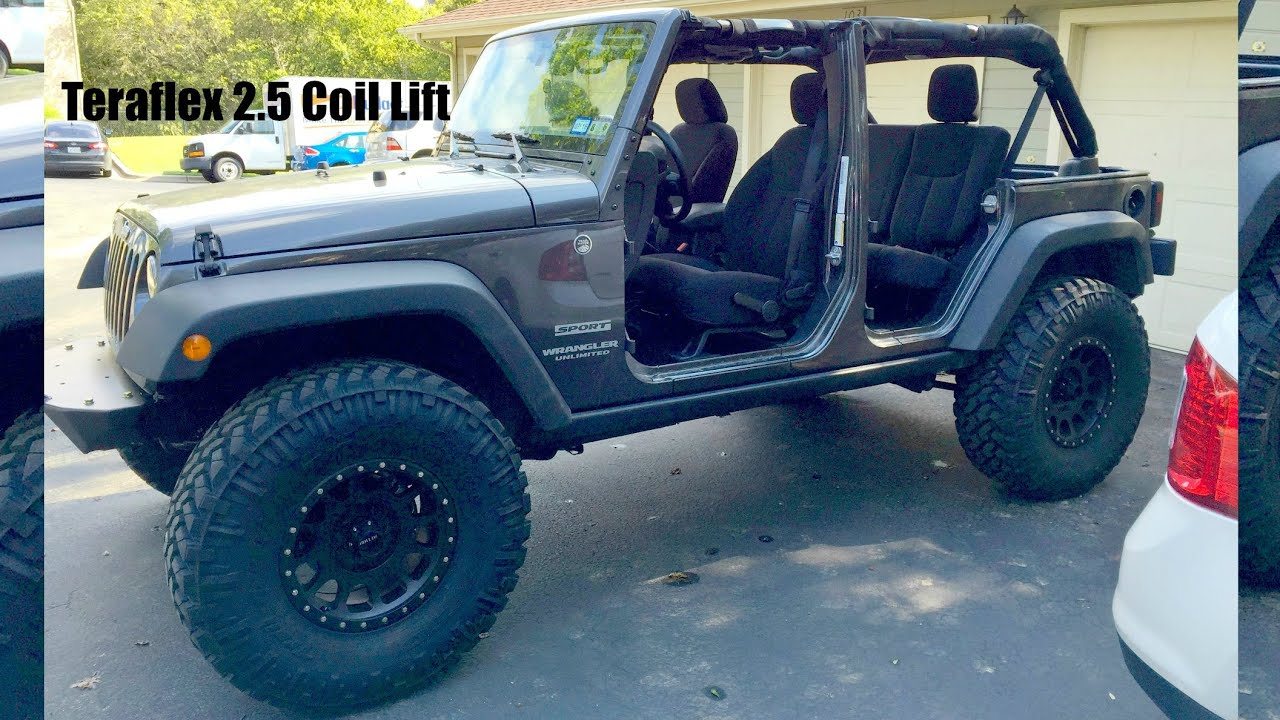 Jeep Jk Leveling Kit >> Teraflex 2.5 Coil Lift Kit Review & Shout outs! - YouTube