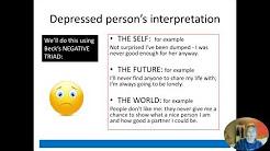cognitive explanation of depression