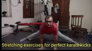 Stretching exercises for perfect karate kicks|Martial Arts Stretching |Get High Kicks|self defense.