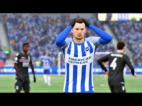 FIFA 18 Brighton vs Crystal Palace (The Amex Stadium) Premier League  Gameplay