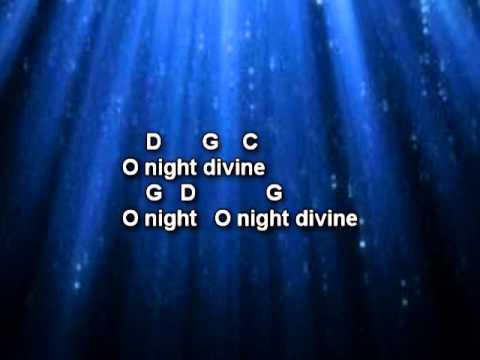 O Holy Night - Christmas Song with Lyrics and Chords - YouTube