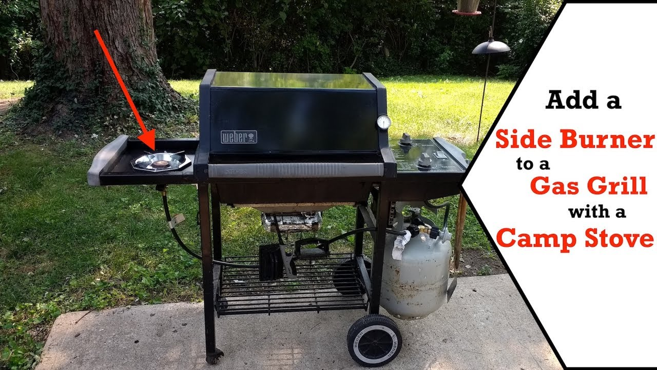 Gas Grill Side Burner Hack Using A Camp Stove That Works