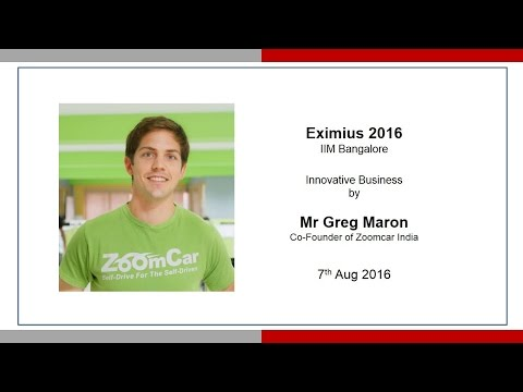 Greg Moran: Innovative Business - Eximius 2016 IIM Bangalore