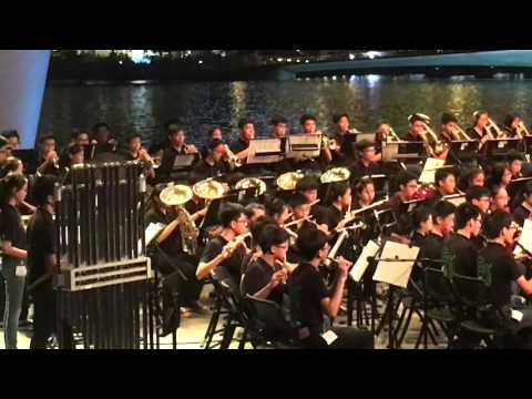 Anime Medley by AMKSS Symphonic Band @ Esplanade Outdoor Theatre