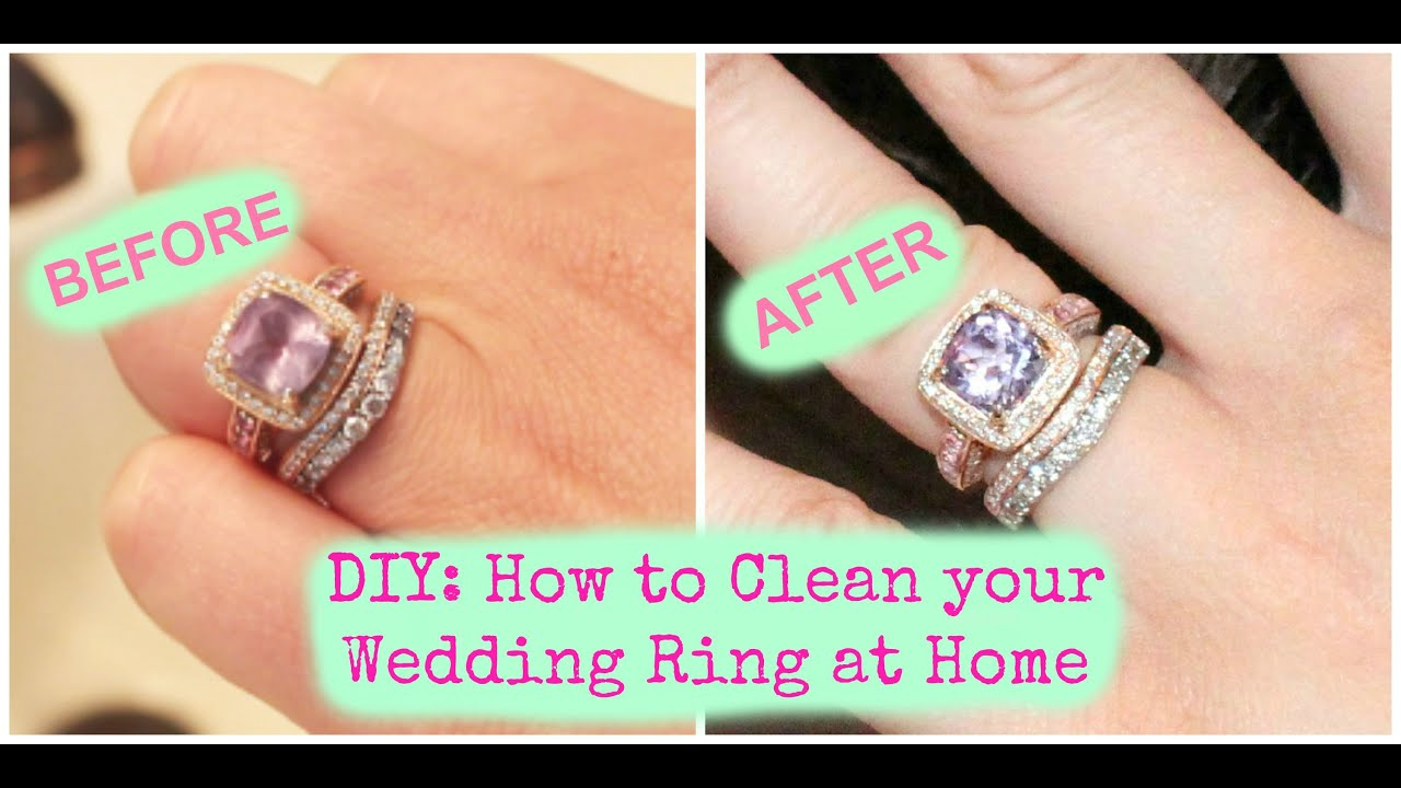 DIY How To Clean Your Wedding Ring At Home