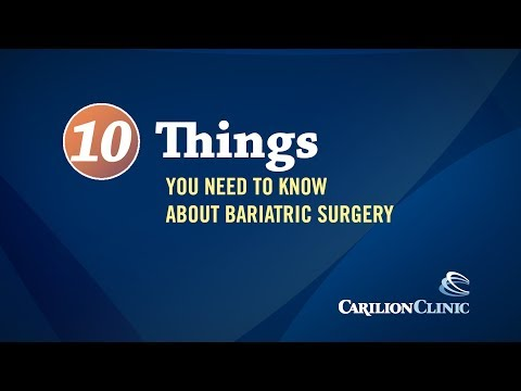 Top 10 Things You Need to Know About Bariatric Surgery