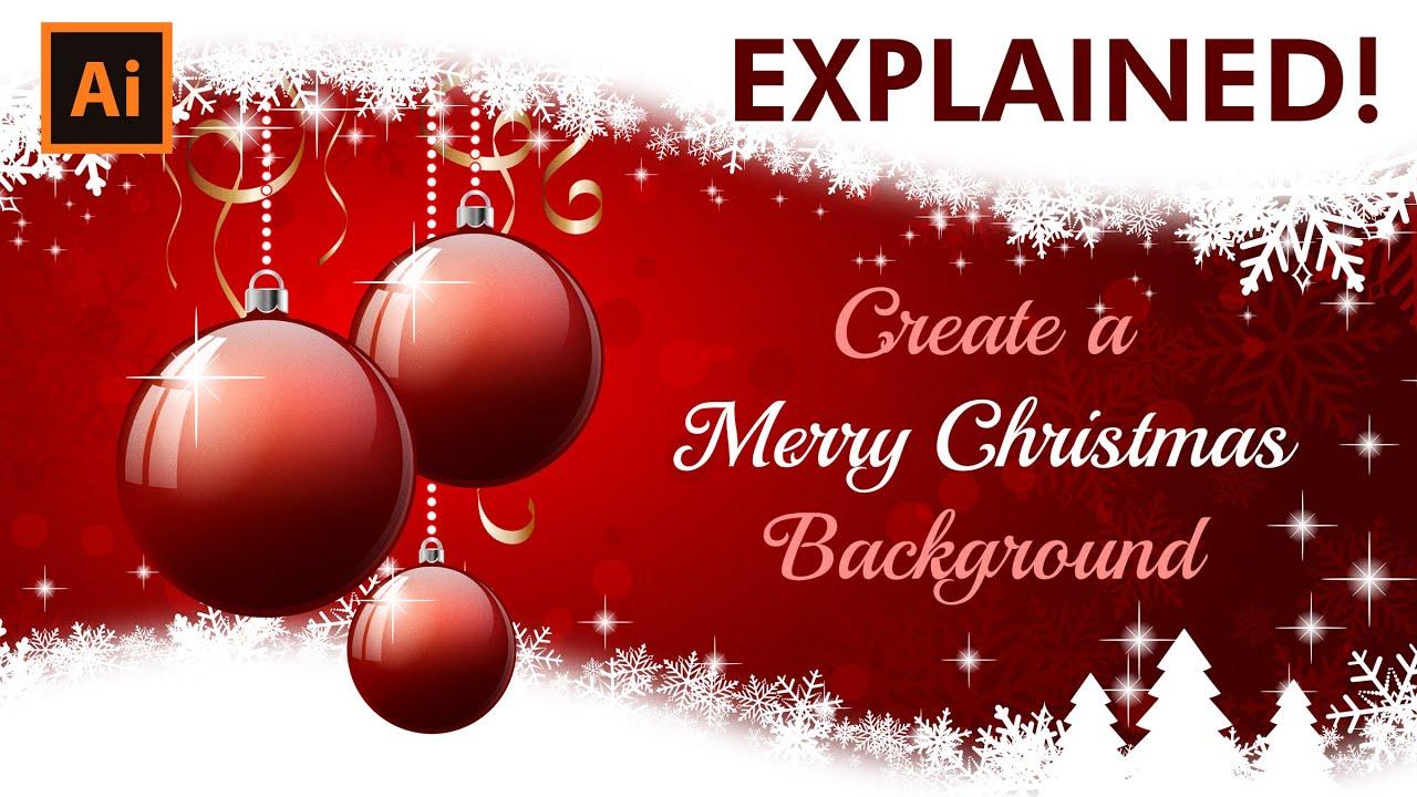 Photo Christmas Card Illustrator Tutorial How To Create A Christmas Card Youtube