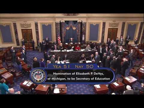 VP Pence Breaks Senate Tie to Confirm Devos