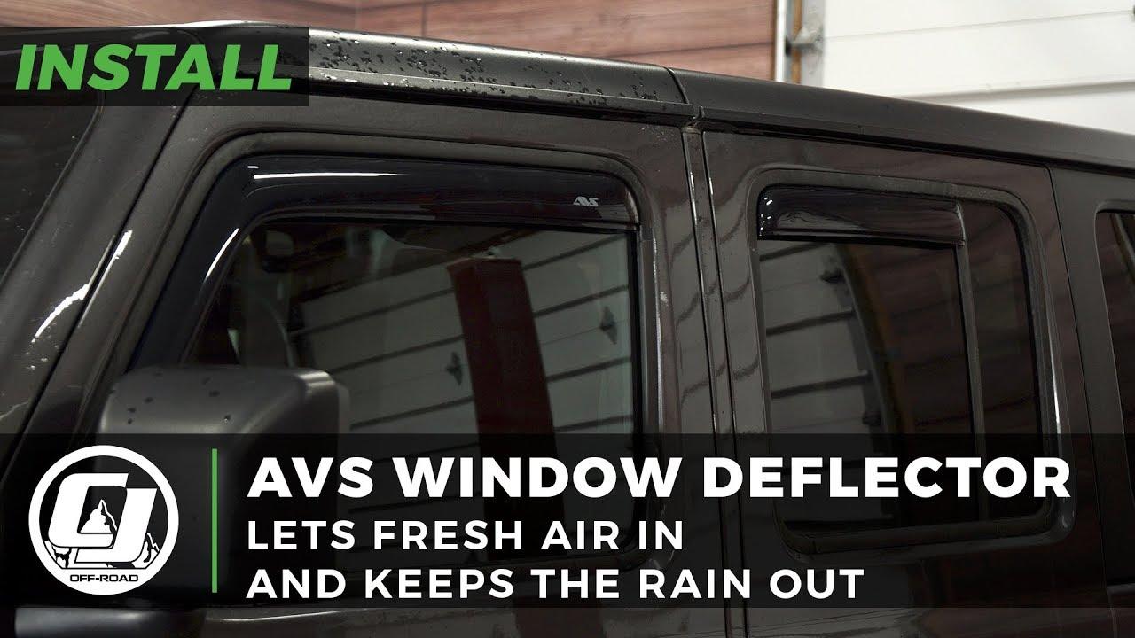 4pcs Dark Tint Tap-on Ventvisor Sun Shade Wind /& Rain Guard fits Jeep Wrangler JK 2007-2017 4-Door Spurtar Window Visor Original Wind Deflectors Out-Channel