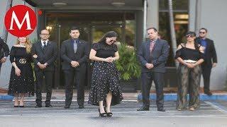 Sarita Sosa rompe en llanto tras funeral de José José