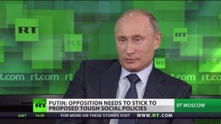 Repeat youtube video Putin talks NSA, Syria, Iran, drones in exclusive RT interview (FULL VIDEO)