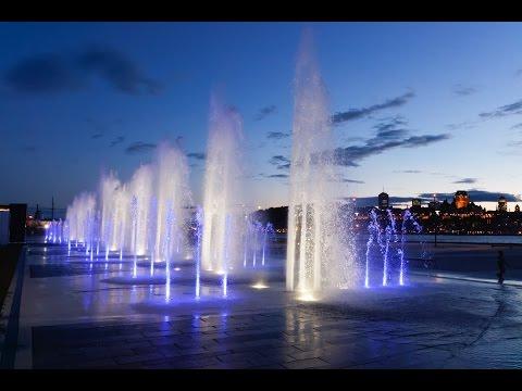 La Fontaine du Quai Paquet, Levis, Quebec, Canada - Crystal Fountains